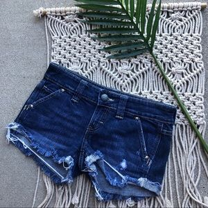 Daytrip Jean Shorts Distressed Frayed Size 25